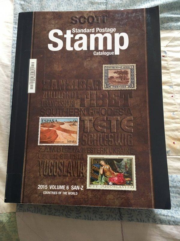 Scott 2015 Standard Postage Stamp Catalogue Vol 6: San - Z Countries ExLibrary