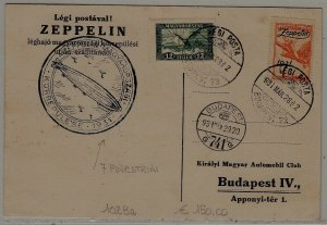 Hungary Zeppelin card 28.3.31 Budapest72