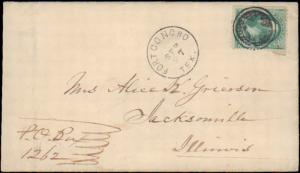 TEXAS TOM GREEN COUNTY (1870's Fort Concho) DPO 1868-1884 #931 Fancy Cancel