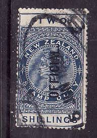 New Zealand-Sc#O38- id7-used QV Official 2sh blue-1914-