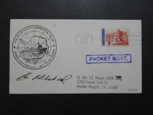 Norway 1988 Antarctica Paquebot Cover / Signed - Z9752