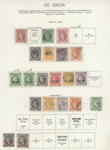 St. Lucia Stamps 1860-84 Approx. CV. $1138 (JH 9/22) GP
