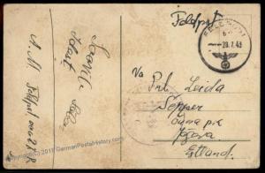 3rd Reich WWII Estonian Volunteer Estnische Sicherungs-Abteilung 181 Feldp 56351