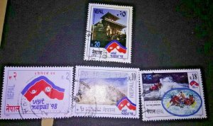 Dennys Quality Stamps Presents for your pleasure # 606-9  from Mysterious Nepal