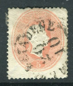 LOMBARDY VENETIA; 1861-63 early classic F. Joseph issue fine used 5s. value