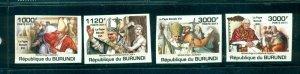 Burundi #836-39 (2011 Pope Benoit set - imperforate) VFMNH CV $15.00