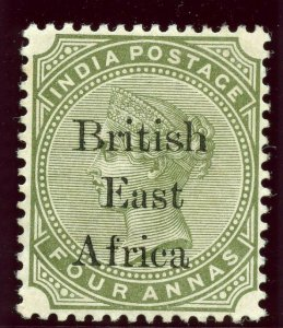British East Africa 1895 QV 4a olive-green MLH. SG 55. Sc 63.