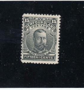 NEWFOUNDLAND (KSG134) # 97 VF-MH 15cts KING GEORGE V / J. GUY ISSUE CAT VAL $110