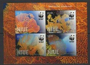 NIUE 2012 WWF GIANT SEA FAN SHEET MNH