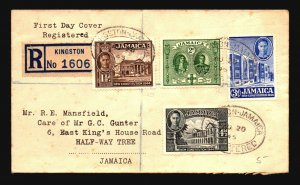 Jamaica 1945 New Constitution Series FDC - Z16801
