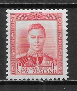 New Zealand 227 1d King George VI single MLH