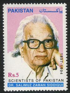 Pakistan 916, MNH. Dr. Salimuz Zaman Siddiqui, Scientist, 1999