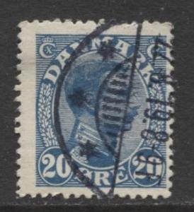 Denmark - Scott 103 - King Christian X Issue -1913 - Used - Single 20o Stamp