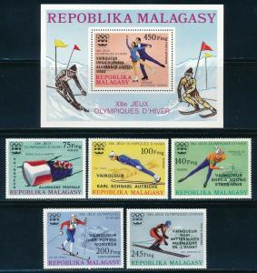 Malagasy - Innsbruck Olympic Games MNH Overprinted Set (1976)