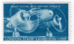 (I.B) Cinderella : Harrison & Sons - Stamp Exhibition 1939 (Night Flying)