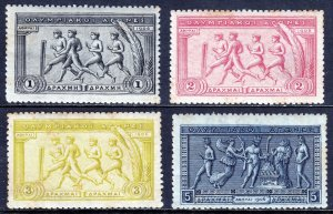 GREECE — SCOTT 194//197 — 1906 ATHENS OLYMPICS HIGH VALUES — MH — SCV $480