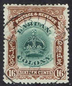 LABUAN 1902 CROWN 16C USED