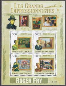 2009 Comoros Islands 2572-75KL Painting / Roger Fry 10,00 €