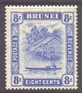 Brunei Scott 52 - SG71, 1924 River View 8c MH*