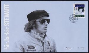 Canada 2993 on FDC - Forumula 1 Racing - Sir Jackie Stewart, Motor Sport