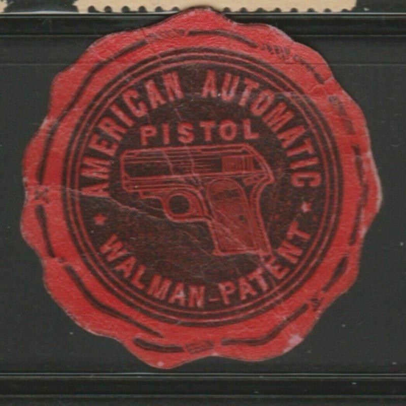 Walman American Pistol Cinderella Poster Stamp Reklamemarken A7P4F807