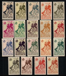 French West Africa 17 - 35   MNH cat $  22.00
