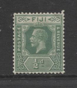 Fiji - Scott 80 - KGV - Definitive - 1912 - MVLH - Single 1/2p Stamp