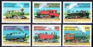 1997 Guinea 1659-1664 Locomotives 10,00 €