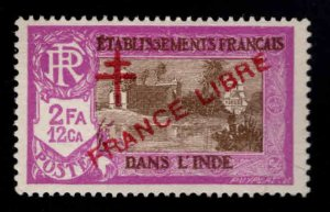 FRENCH INDIA  Scott 170 MH* France Libre  overprint