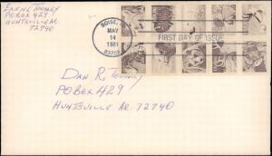 United States, Idaho, First Day Cover, Animals