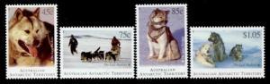 Australian Antarctic Territory L90-3 MNH Dogs, Huskies