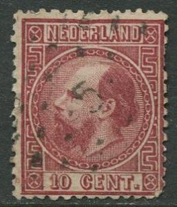 Netherland - Scott 8 - King William III -1867 - Used - Single 10c stamp