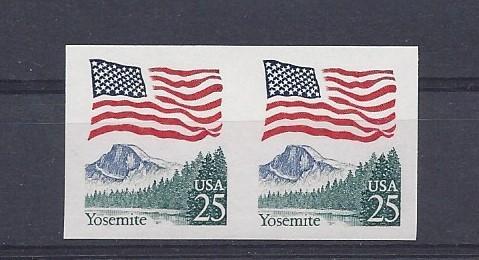 United States, 2280c, Flag Over Yosmite Imperf Pair, MNH