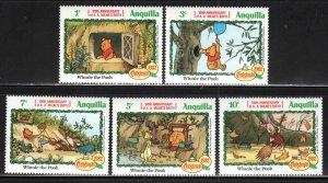 Anguilla # 511-19 ~ Short Set 5 of 9 ~ Mint, NH, #513 has Vertical Crease