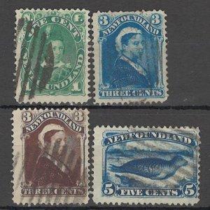 LLECTION LOT OF #1781 NEWFOUNDLAND 4 STAMPS 1880+ CV+$22
