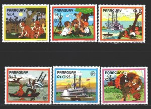 Paraguay. 1985. 3887-92 in a series. Literary illustration, youth year. MNH.
