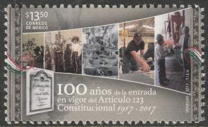 MEXICO 3051, Labor protection in the Constitution, 100th Anniv. MNH