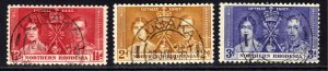 Northern Rhodesia 1937 KGV1 Set Coronation used SG 22 – 24 ( J211 )