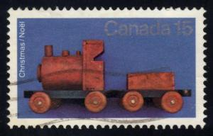 Canada #839 Wooden Train, used (0.25)