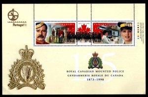 Canada Scott 1737b  MNH**  Royal Canadian Mounted Police souvenir sheet.