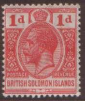 British Solonmon Is 1d SG40 hinged mint