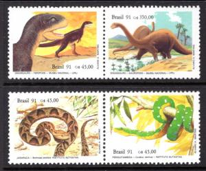 Brazil 2317a,2319a Reptiles MNH VF