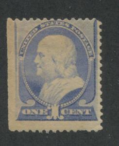 1887 US Stamp #212 1c Mint Hinged Average Original Gum Catalogue Value $90