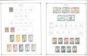 Jordan 1944-1994 M & U Hinged on Scott International Pages Through 1999