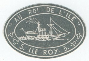 (I.B) France Cinderella : Ile Roi 5c (paddle steamer)