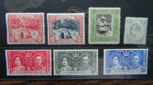 Jamaica 1911 2d Grey SG57 1937 Coronation + others MM