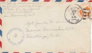 1944, USMC, 9th Defense Batt., Guam, to Hastings, NE (N6352)