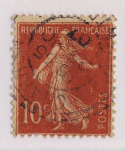 FRANCE - 1907 - CàD Beau DISTRIBUTION  CHARRON / CHARENTE-INFre   sur n°135