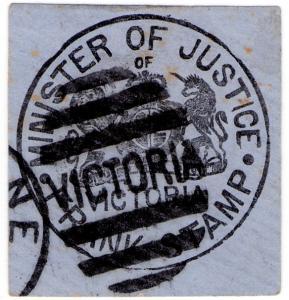 (I.B) Australia Postal : Victoria Frank Stamp (Minister of Justice)