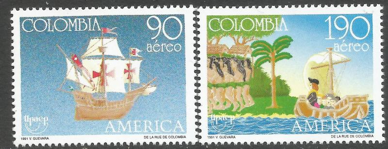 COLOMBIA C842-43 MNH SHIP UPSE Q297